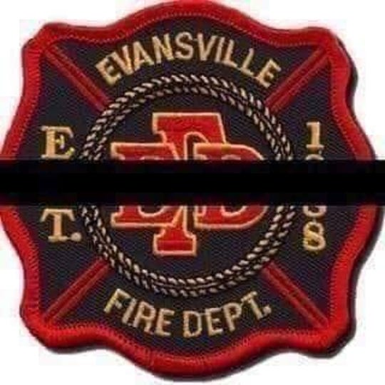This image of an Evansville Fire Department badge with a black band across it was posted on Facebook by EFD and other local agencies this week after the unexpected death of EFD Capt. Jim Pauli. Law enforcement officers will sometimes wear a black memorial band across their badges in honor of a deceased officer.