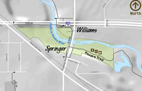 The Williams and Springer natural areas are near the intersection of Lemay Avenue and Mulberry Street.