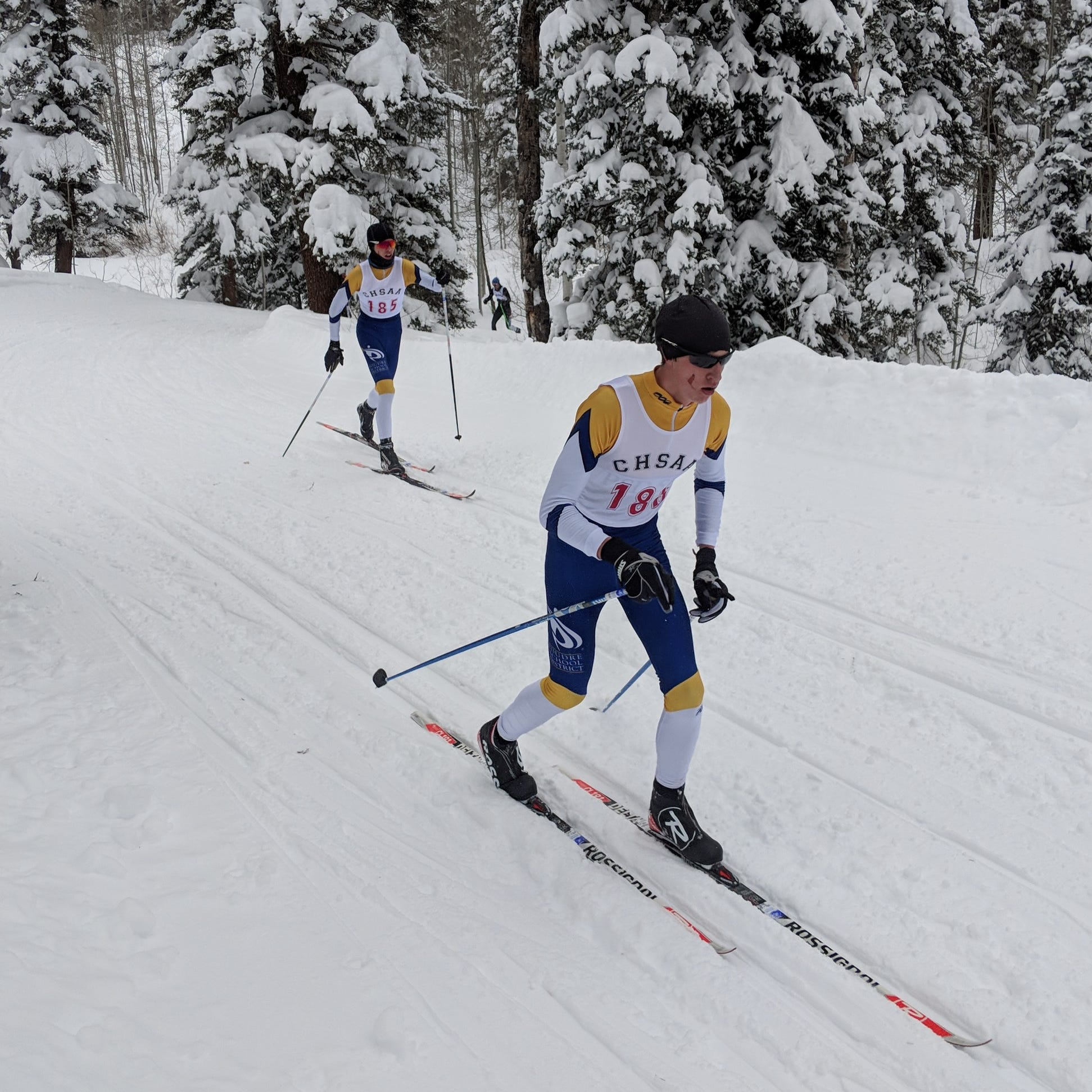 Veronica Bassett paces Poudre School District's first-year ski team at state