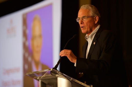 Congressman Francis Rooney addresses the audience Friday, Feb. 22, 2019 during the People of the Year event at The Westin in Cape Coral.