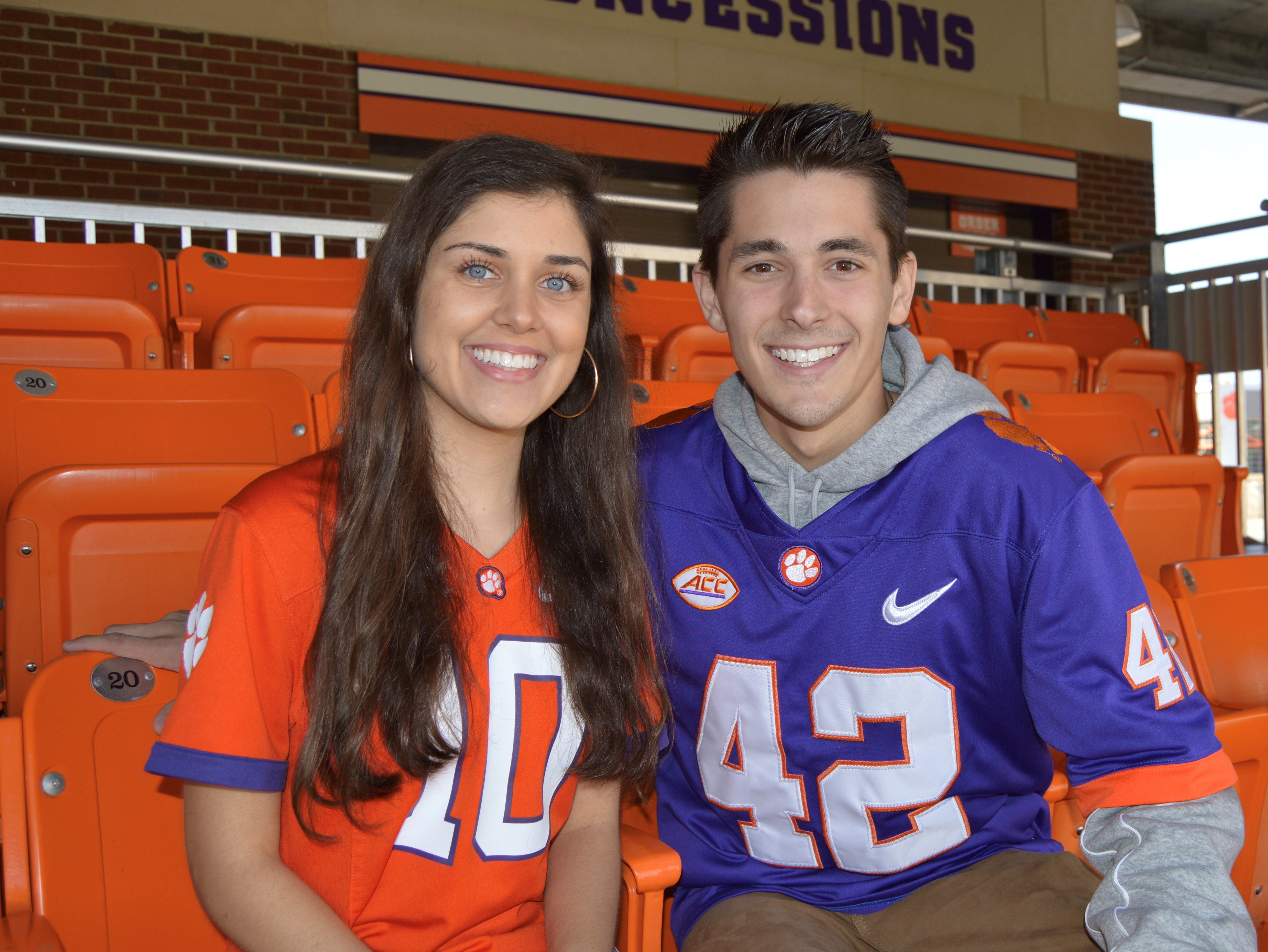 Collin Huskey and Rena Haley are running to be Clemson's next president and vice president for the Undergraduate Student Government.