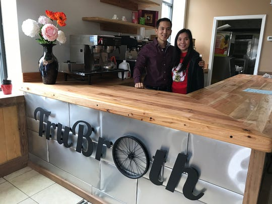 The owners of TruBroth, Charlie Ngo and Lauren Tran.