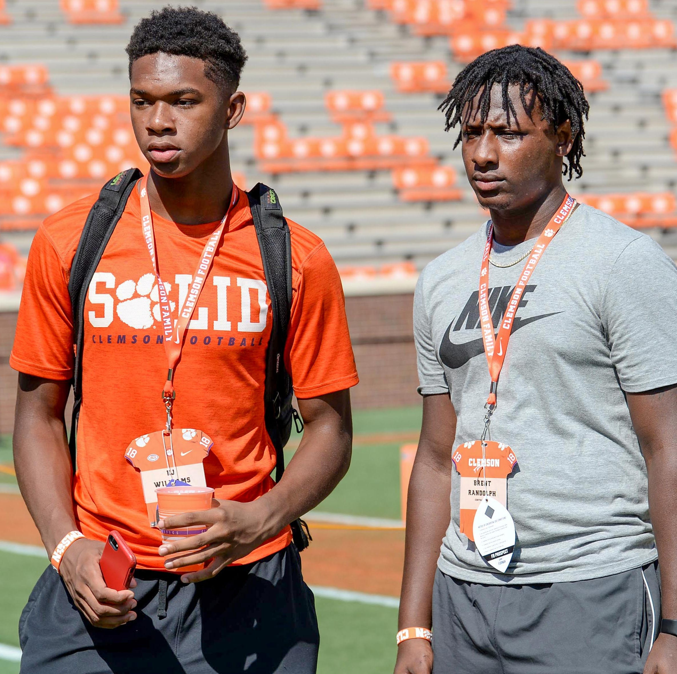 Clemson football recruiting target E.J. Williams sported Clemson wristband at Alabama