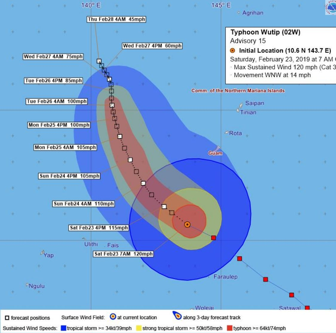 Saturday Typhoon Wutip update: Stay off roads, expect heavy flooding