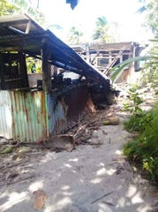 Damage in Oneop island in Chuuk from Typhoon Wutip