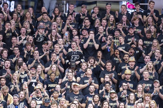 """Purdue fans chant """"IU sucks!"""" during every home basketball and football game."""