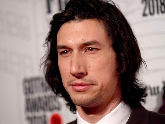 "Adam Driver is a best supporting actor nominee for his work in ""BlacKkKlansman."""