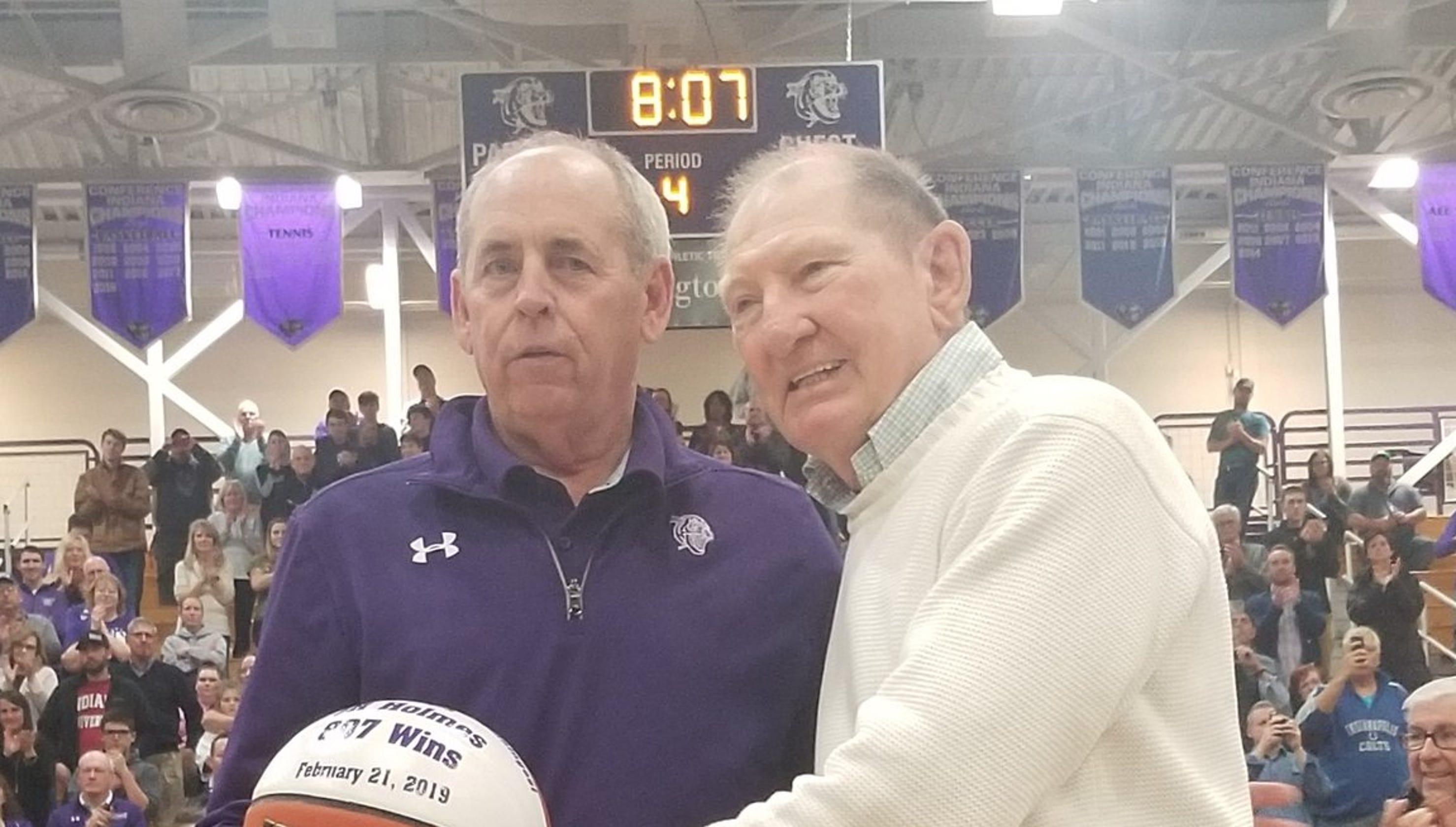 J R  Holmes winningest coach in Indiana hIgh school