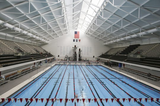 IUPUI's Natatorium in Downtown Indianapolis, where Fishers will compete Saturday at the 2019 IHSAA state swimming meet.