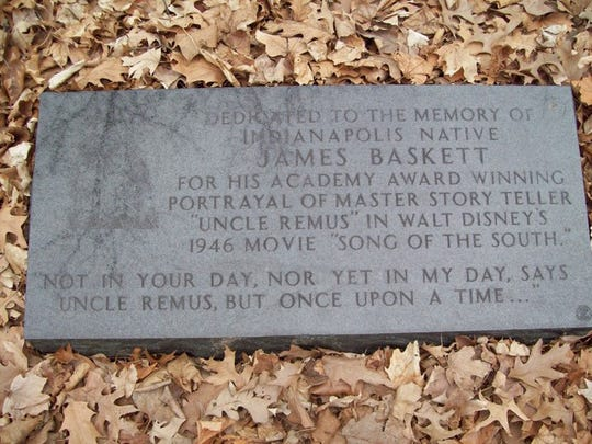 This black granite memorial honors the Academy Award winning actor, James Baskett.