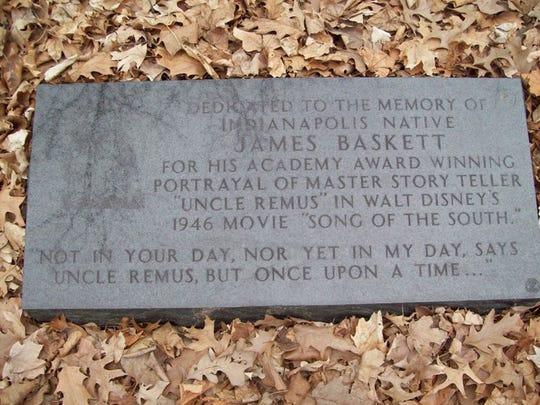 This black granite memorial honors the Academy Award winning actor, James Baskett.
