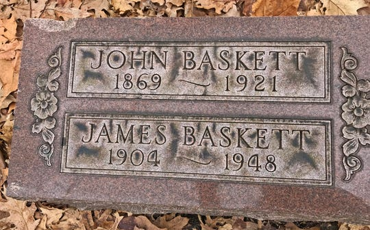 Actor James Baskett's remains were placed in a grave at Crown Hill along with his father, John in 1948