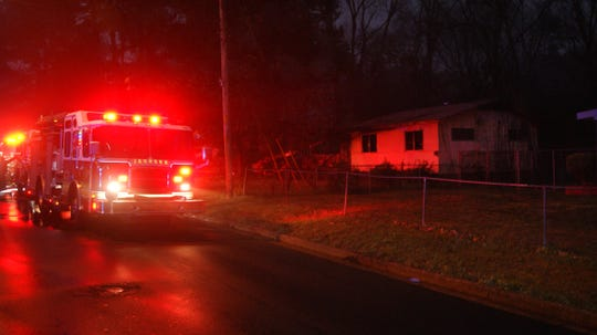 The scene of a fatal house fire on Witsell Road in Jackspon, Miss.