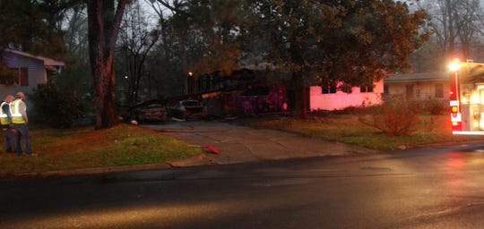 The scene of a fatal fire on Witsell Road on Friday, Feb. 22, 2019 in Jackson, Miss.
