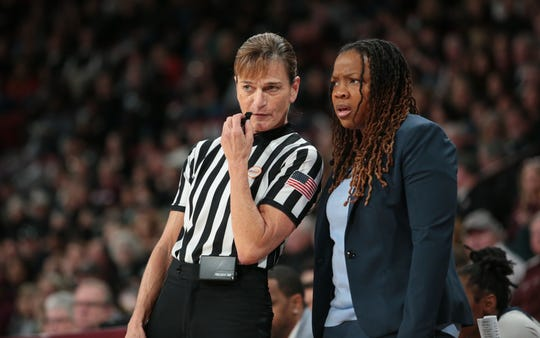 Ole Miss head coach Yolett McPhee-McCuin doesn't have the talent level that Mississippi State has, but her goal is to build of program that consistently competes with Vic Schaefer's Photo by Keith Warren