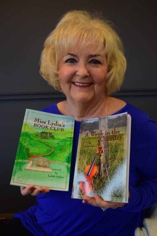 Author Judy Didier, who has written two books (and is writing another), at Beaver's Dough-Joe in Karns on Tuesday, Feb. 19. 2019