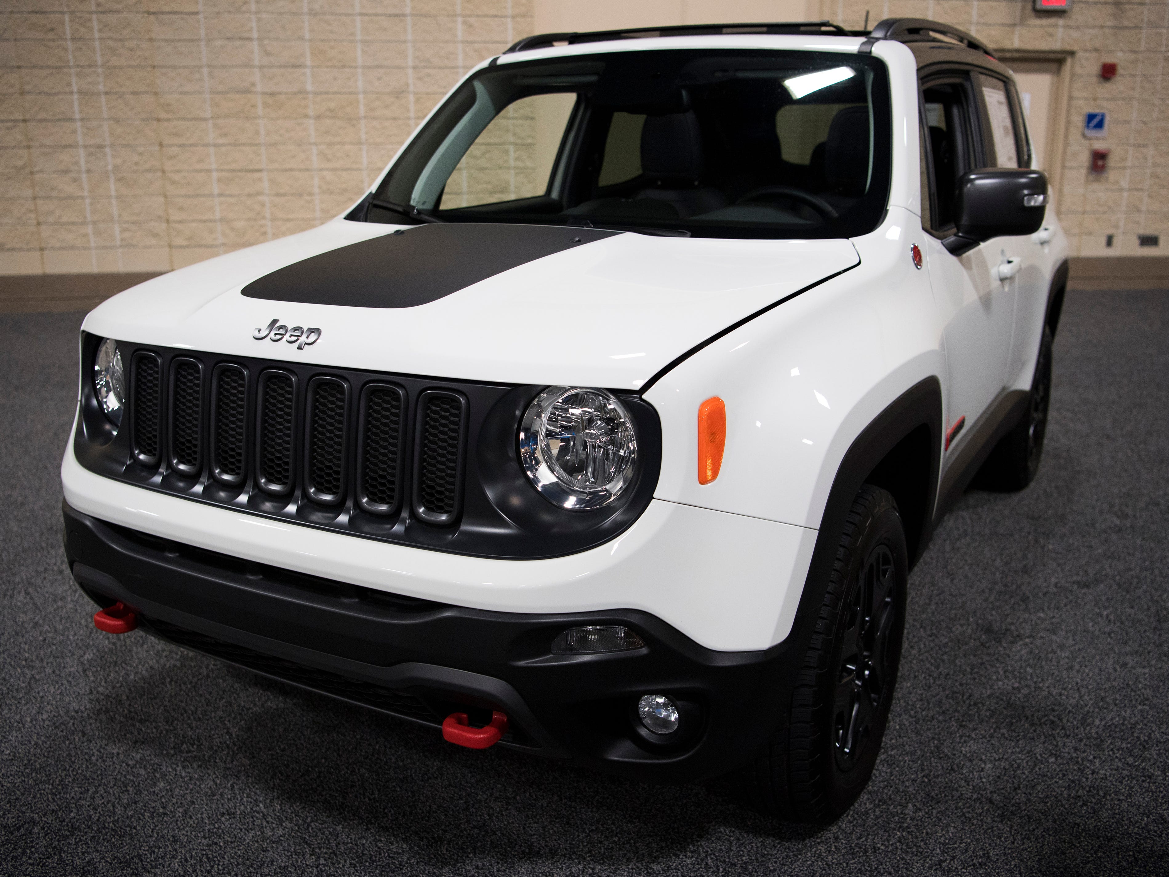 The Jeep Renegade Trailhawk 4x4 at the Knox News Auto Show held at the Knoxville Convention Center on Friday, February 22, 2019.