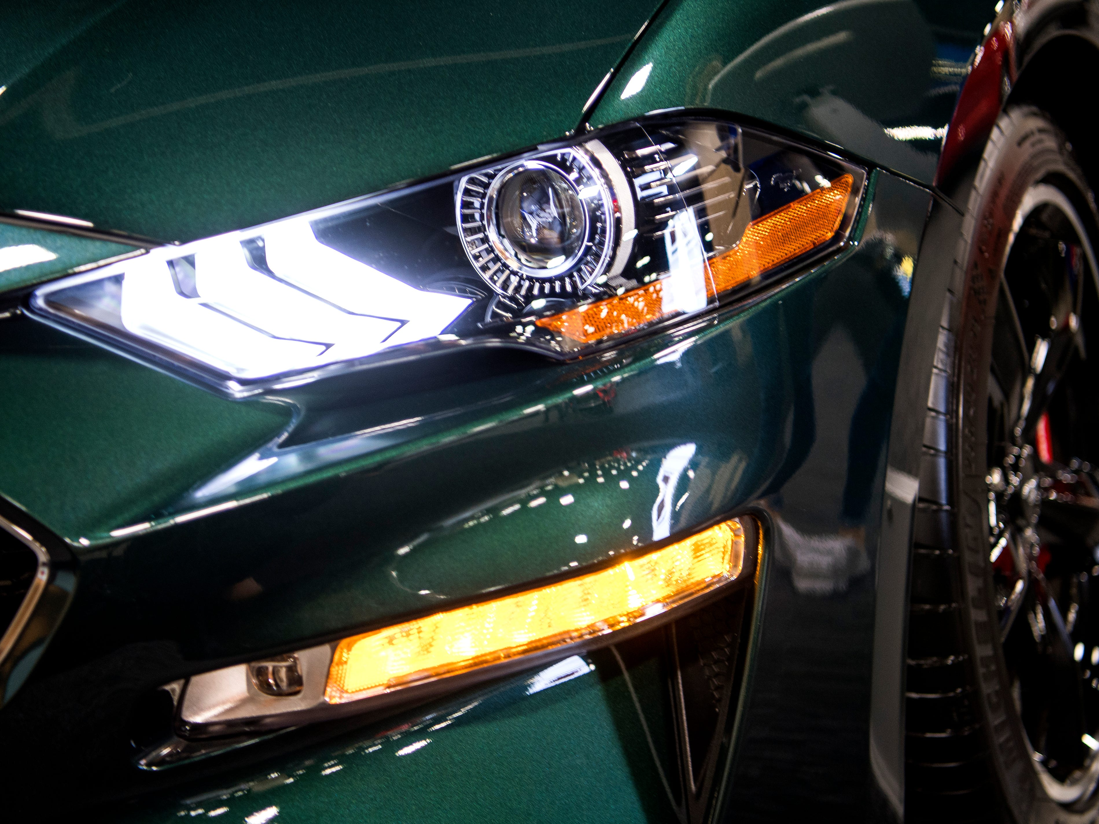 The Ford Mustang BULLITT at the Knox News Auto Show held at the Knoxville Convention Center on Friday, February 22, 2019.