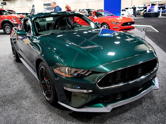 A Ford Mustang Bullitt is on display at the Knox News Auto Show. The show runs through Sunday.