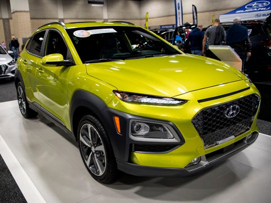 The Hyundai Kona is on display at the Knox News Auto Show.