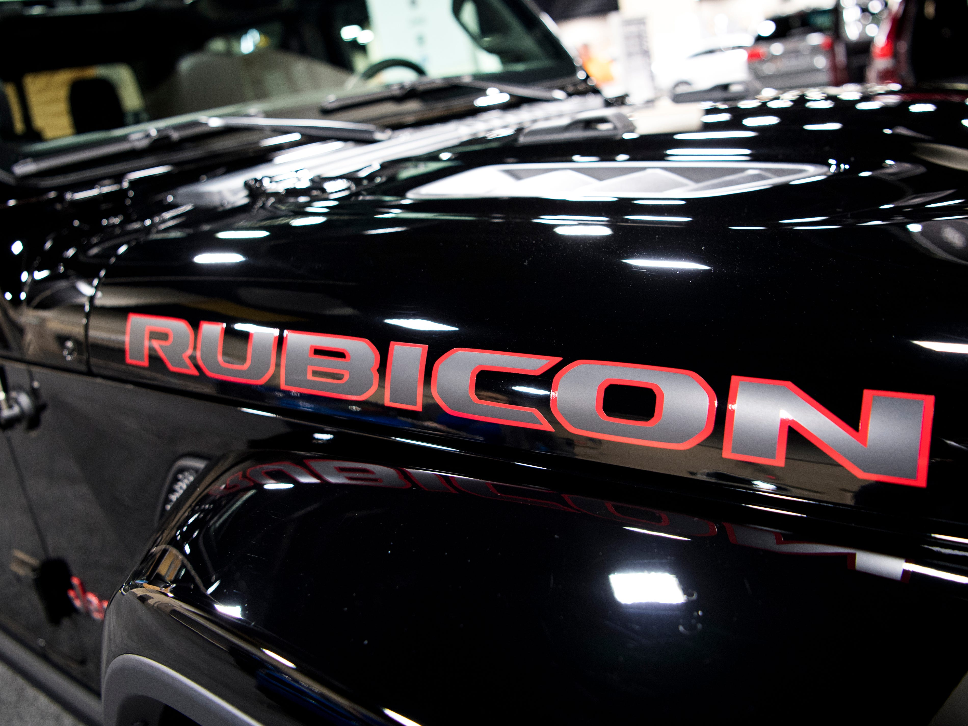 The Jeep Gladiator Rubicon at the Knox News Auto Show held at the Knoxville Convention Center on Friday, February 22, 2019.