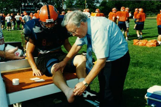 Dr. Bob Hannemann was the team doctor for Harrison High School for 40 years.