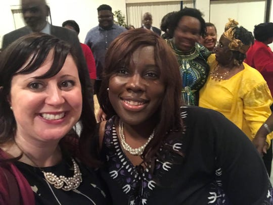 Rev. Lane Cotton Winn, St. John's UMC, Lead Pastor, seen pictured with Ministry Intern Latrice Mallard, helped start a prayer campaign this month to show support for Bishop Cynthia Fierro Harvey, who leads the United Methodist Church Louisiana Annual conference.