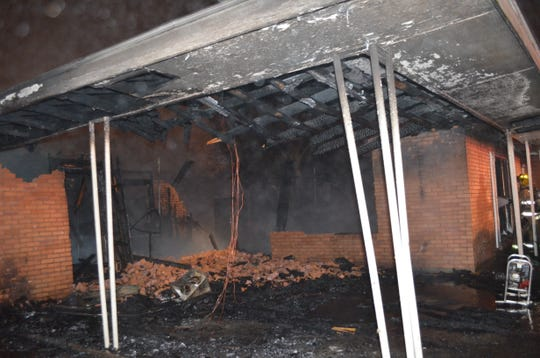 A home on Karen Drive was completely destroyed in a fire Friday morning.