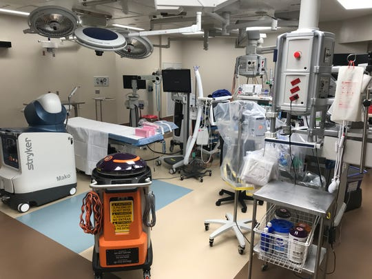"The ""total joint room"" at the new orthopaedic general hospital in Lafayette, where patients can have hip, knee, shoulder, and other joint replacement surgeries."