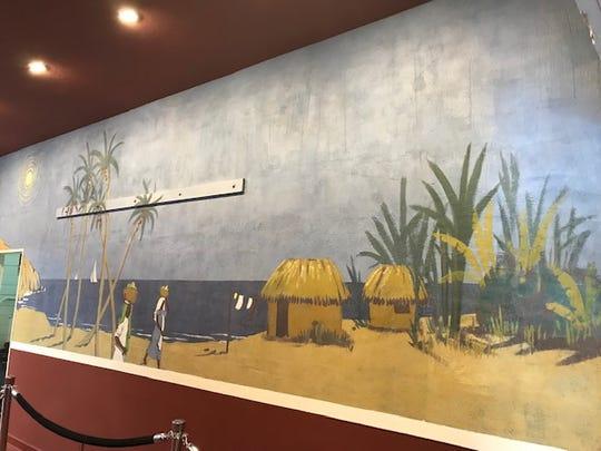 Restored wall of Bentley mural