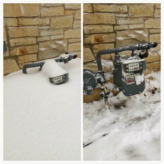 Wisconsin Public Service is encouraging customers to check and clear any snow or ice from natural gas meters and appliance vents.