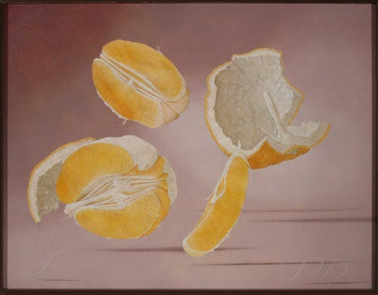Oranges (Nuts & Fruits Series #11) by John Wilde from the Ruth and John D. West Collection at the Rahr-West Art Museum.