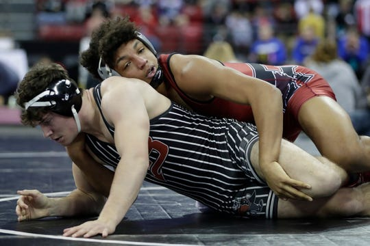 Along with football, Fond du Lac's Braelon Allen also competes in wrestling and track and field. He competed at the WIAA state wrestling tournament in February.