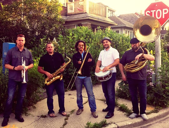 Hot & Dirty Brass Band on the street
