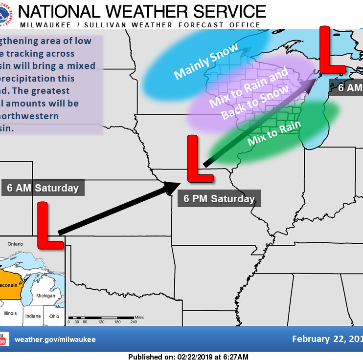 A strengthening storm system will track northeast...