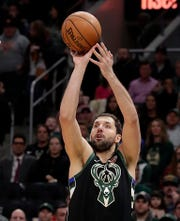 Forward Nikola Mirotic played his first game with the Bucks on Thursday night.