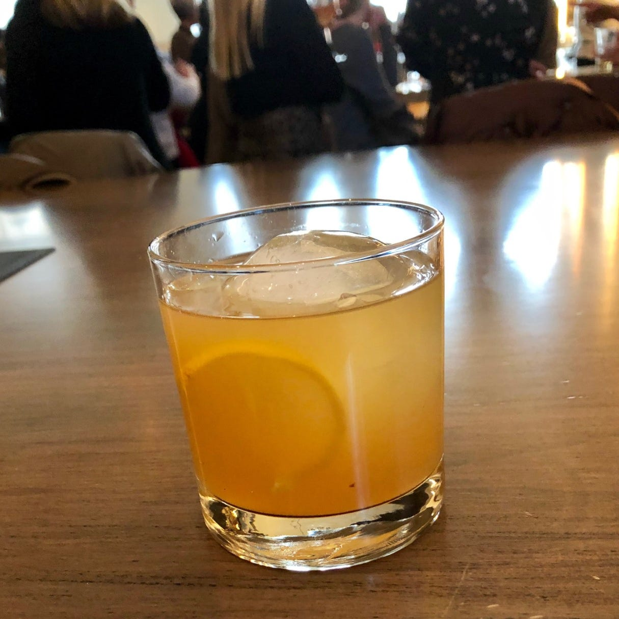 Tennessee Gold cocktail comes with lemon peel garnish and a history lesson about Uncle Nearest