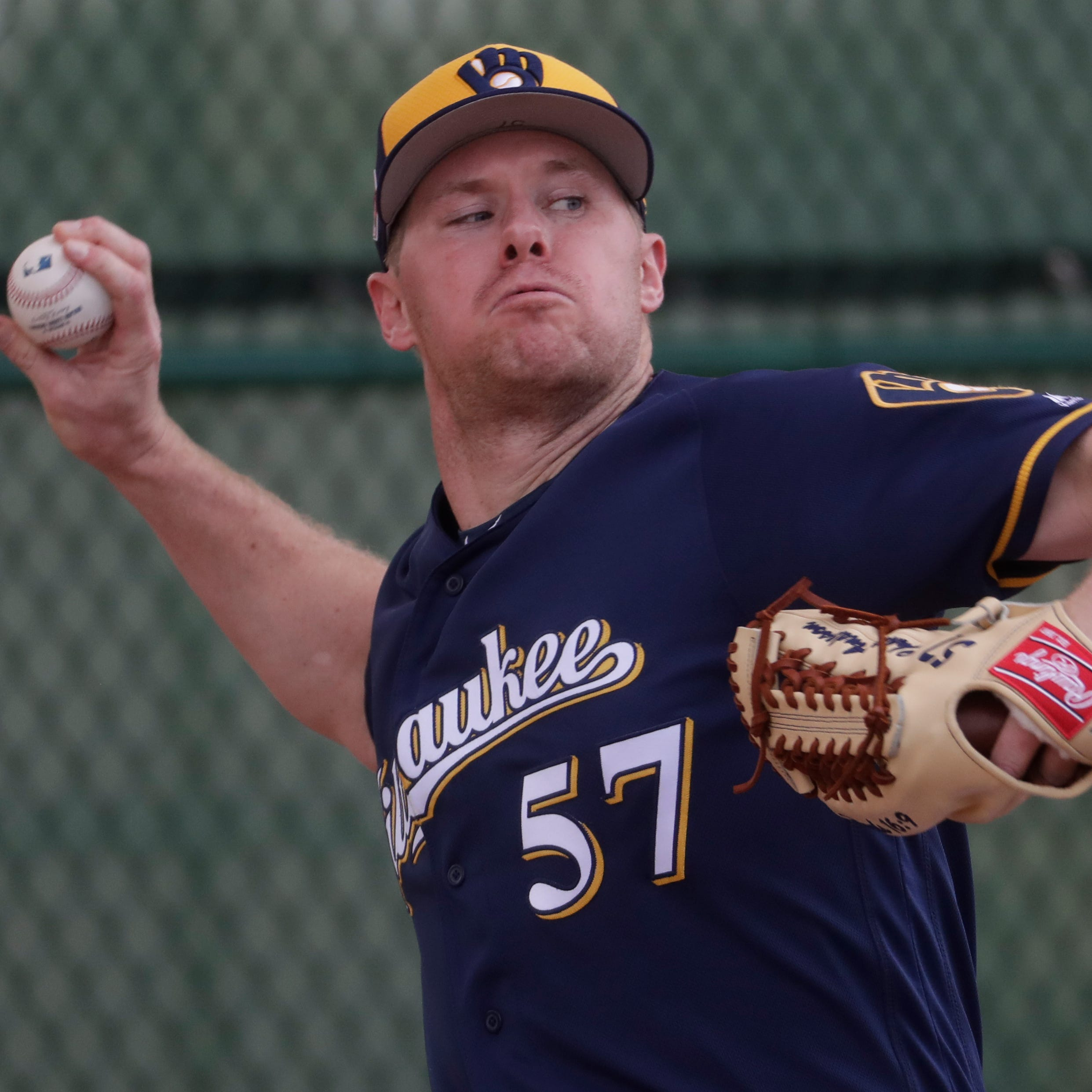 Camp report: Chase Anderson will be the Brewers' initial 'out-getter' in their Cactus League opener