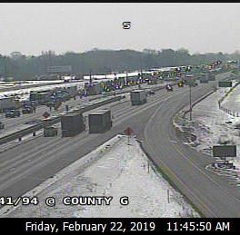 I-41/94 traffic backed up 3 miles; emergency road repairs expected to continue into evening