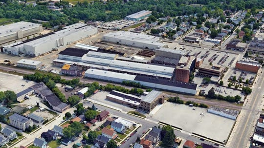 The 28-acre portion of the former Caterpillar Inc. complex being redeveloped includes both industrial and office space.