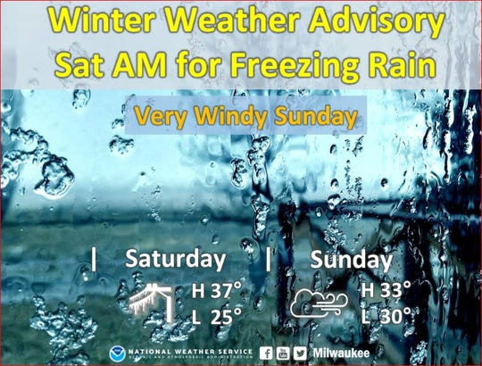 A winter weather advisory has been issued for southeastern Wisconsin for Saturday morning. Freezing rain is in the forecast.