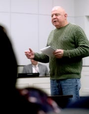 Mental Health Court graduate Rickey Reed speaks to the success of Mental Health court on Friday, Feb. 22, 2019, during a two year anniversary celebration to celebrate the success of the Mental Health Court program.
