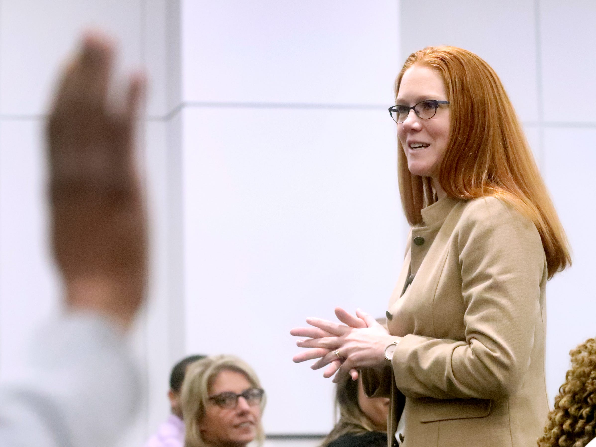 Rutherford County Assistant District Attorney Sheila Freeze speaks to the success of Mental Health Court on Friday, Feb. 22, 2019, during a two year anniversary celebration to celebrate the success of the Mental Health Court program.