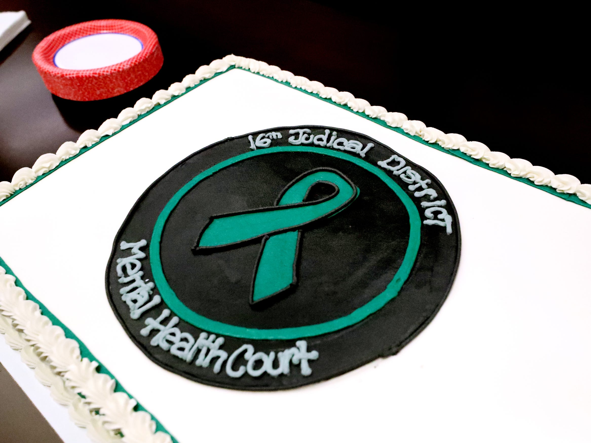 Cake was served at the two year anniversary celebration for Mental Health Court on Friday, Feb. 22, 2019.