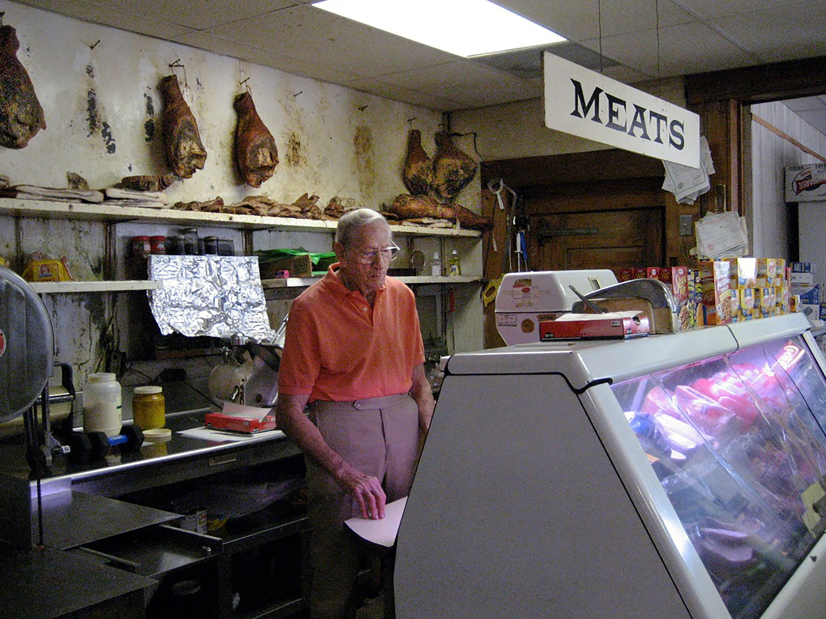 The late Weyman Terry was known for offering top-quality meats and hand-crafted sandwiches at his old-fashioned butcher shop for six decades. Terry died in 2012 at age 87.