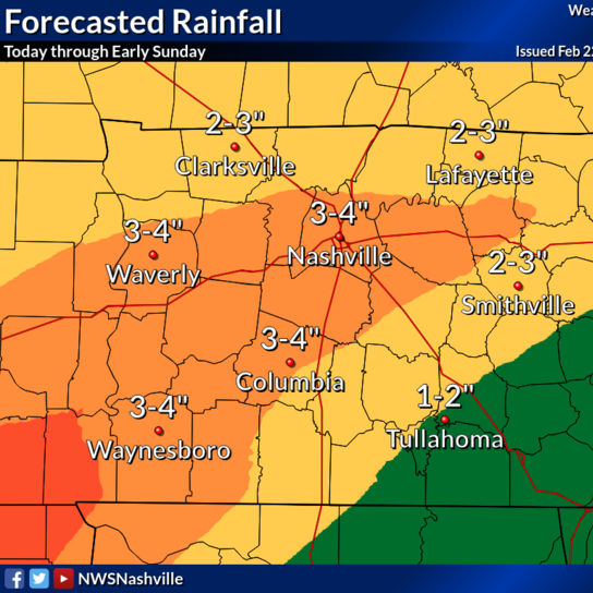 Flash flood watch in effect, 3-4 inches of rain could fall through Saturday