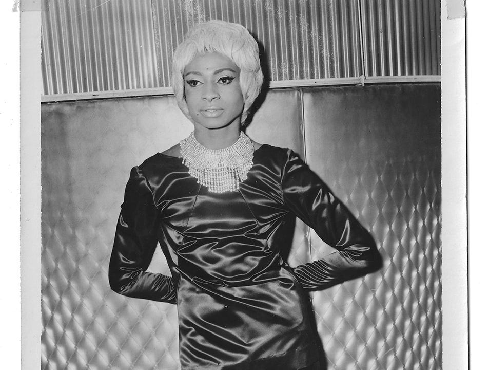 This 1960s image shows Jackie Shane at The California Club in Los Angeles.