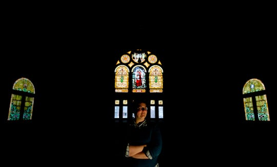 Jenaba Waggy, who identifies as bisexual, sits at East End United Methodist Church where she is the student pastor on Thursday, Feb. 21, 2019 in Nashville, Tenn. She also is a Vanderbilt Divinity school student. She would like the UMC to permit same-sex marriages and LGBT clergy. Those two issues will be debated when UMC members gather in St. Louis this weekend.