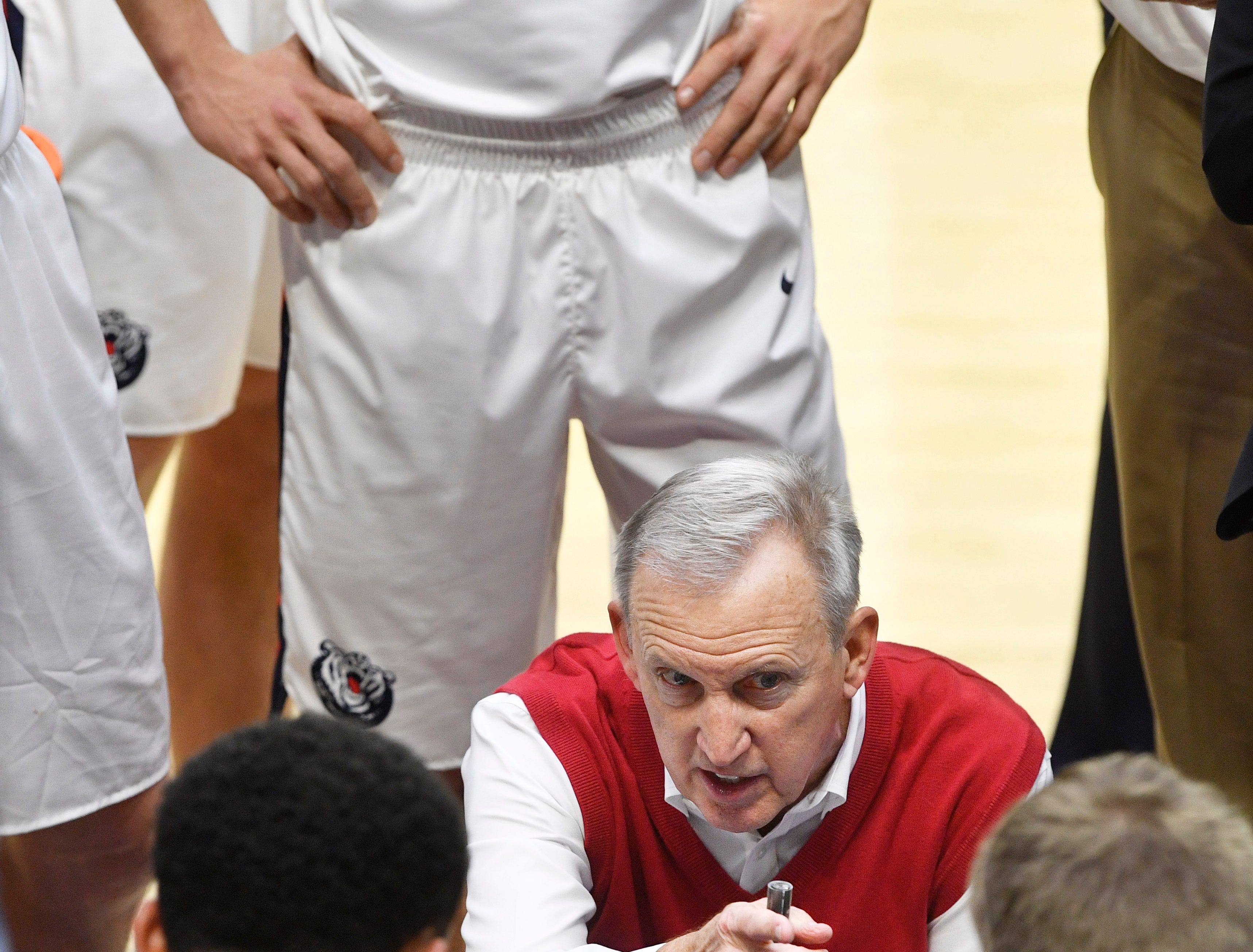 Belmont Coach Rick Byrd coached his team to his 800th game win as Belmont defeated Eastern Illinois 99-58 in Curb Event Center Thursday, Feb. 21, 2019, in Nashville, Tenn.