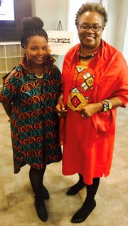 Fallon S. Wilson with her mentor, the Rev. Dr. Renita J. Weems.